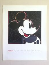 """ANDY WARHOL RARE 1993 """"THE ART OF MICKEY MOUSE"""" LITHOGRAPH PRINT POP ART POSTER"""