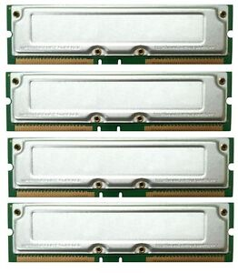 2GB 4x512MB Gateway E-6000 Series Desktop/PC RDRAM RAMBUS MEMORY KIT 40NS TESTED