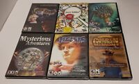 Hidden Objects New and Sealed PC Games Lot Of 6 Win XP/Vista and most Win 7