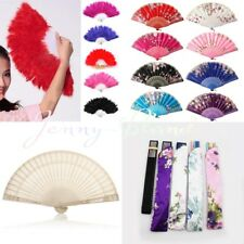 Best Chinese Style Dance Wedding Party Lace Silk Folding Hand Held Flower Fan