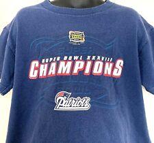 Patriots Super Bowl Champions Kids 6/7 T Shirt NFL XXXVIII 2004 Short Sleeve