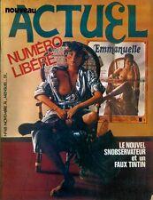 RARE EO ACTUEL N° 48 1974 PARODIES TINTIN + EMMANUELLE + NOUVEL OBSERVATEUR