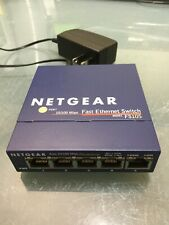 Netgear FS105 10/100 Fast Ethernet Network Switch - with Power Supply - Works!