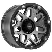 "4-Vision 416 Se7en 20x9 6x5.5"" +0mm Gunmetal/Black Wheels Rims 20"" Inch"