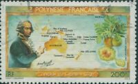 French Polynesia 1983 Sc#C199,SG397 200f Bligh, Map and Breadfruit FU