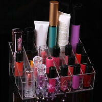 DI- KF_ 24 Grid Makeup Lipstick Gloss Cosmetic Storage Display Stand Holder Rack