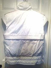 The Company Store La Crosse Down Vest Puffer Ski Parka White Cap Sleeves Size 14