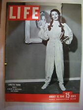 LIFE MAGAZINE AUGUST 12,1946 LORETTA YOUNG