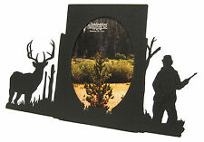 "Buck Deer Hunting Oval Picture Frame 3.5""x5"" - 3""x5"" V  Hunter Hunt"