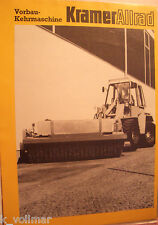 Sales Brochures Construction Machinery Kramer Allrad vorbau-kehrmaschine