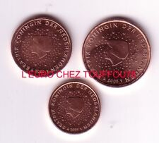 Pièces de 1,2,5cts euros des Pays Bas 2005.