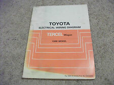1988 Toyota TERCEL WAGON Electric Wiring Diagrams Service Manual