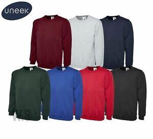 Uneek Olympic Plain Sweatshirt Sweater Jumper Workwear Top Quality Unisex UC205