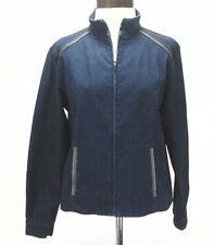 PENDLETON  Blue Denim Jacket w Faux Leather USA Moto Fashion Women's Medium M