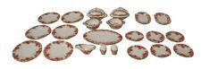 1/12TH SCALE DOLLS HOUSE QUALITY  PORCELAIN PINK ROSE DESIGN DINNER SET