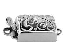 Grabado Perla/Perla Collar de plata esterlina joyas broche de capturas empuje