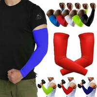 Cooling Arm Sleeve Cover UV Sun Protection Elbow Support Athletic Sports Brace C