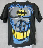 Batman Officially Licensed Boys T-Shirt Black DC Comics Costume Shirt Free Ship