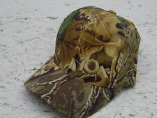 vintage 10x mens w camo bomber hat leather strap back great shape made in U.S.A.