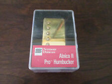 SEYMOUR DUNCAN ALNICO II PRO HUMBUCKER GUITAR PICKUP - GOLD - NECK - NEW APH-1N