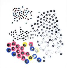 200 WIBBLY WOBBLY EYES MOVES AROUND, CRAFTS, STICKERS Embellishments, Coloured