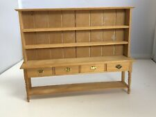 Vintage Dolls House 1/12 Hand Made Large Artisan Kitchen Dresser C625