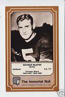 GEORGE McAFEE Chicago Bears 1975 Fleer The Immortal Roll Football HOF CARD #9