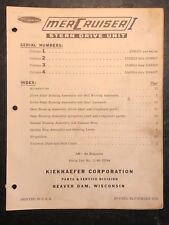 Mercruiser I Stern Drive Parts Catalog Book Manual 1964, 1535211 and below