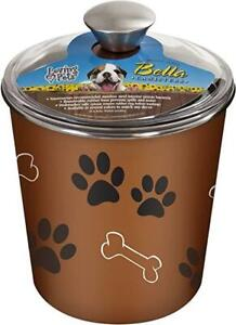 SALE! SALE! New Loving Pets Bella Dog Bowl Canister/Treat Container Copper  fga