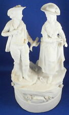 Rare 18thC La Courtille Biscuit Porcelain Couple Figurine Porcelaine Figur Locre