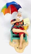 Kurt Adler KSA Fabriche-Santa At Beach Under Umbrella Figurine Decor-See Descrip