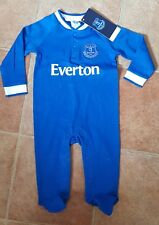 Everton Official Royal Blue Baby Sleepsuit - Age 3 - 6
