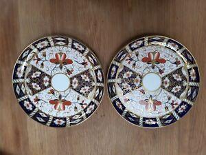 "2 Royal Crown Derby Round Cake Plates in the Imari 2451 Pattern - 1897 - 9"""