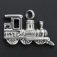 Keepsake Silver Train Necklace Pendants for Pets Hair Cremation Ashes Urn