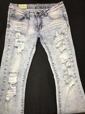Machine Jeans/Destroyed/Boot-Womens Sz.30x32-Cotton Bl-L. Blue Denim