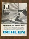 Vintage 1960s Behlen Manufacturing Heat Units & Aeration Fans 4 Page Brochure