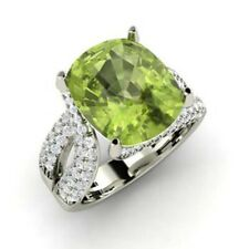 Christmas Sale 5.00 Ct Peridot Diamond Engagement Ring Solid 950 Platinum 7 8 6