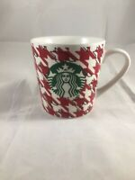 Starbucks 2017 Red Houndstooth Checkered Coffee Mug Cup 18 oz Christmas Cup