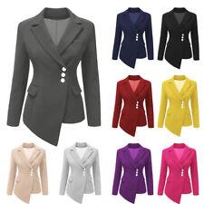 Women Long Sleeve Asymmetrical Lapel Top Ladies Office Blazer Suit Spring Outfit