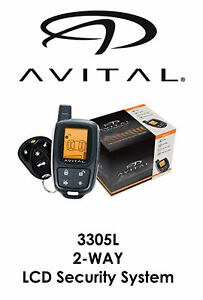 Avital 2-Way LCD Security System 1500 FT Range 2 Remotes 3305L