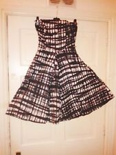 Womens 100% Cotton 50s Rockabilly Full Circle Retro Skater Dress size S 10 12 M