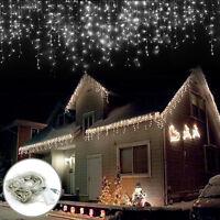 LED Weiß 100LEDs 10M Lichterkette Strip außen Weihnachten Eisregen Eiszapfen HOT