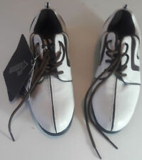 MassPro Womens Golf Shoes size 4 (EU 37) with Stinger Spikes White/Brown