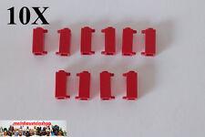 10X Lego 3581 Scharnier, Türangel, Pfosten, Halter, 1X1X2, Rot, Red