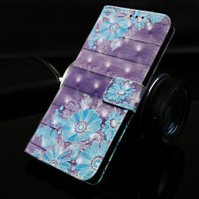 Magnetic PU Leather Wallet Case Card Slot Phone Flip Cover for Samsung iPhone