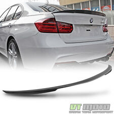 2012-2017 BMW 3-Series F30 4-Door Sedan Rear Trunk Matte Black ABS Spoiler Wing