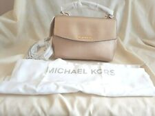 Michael Kors Ava Leather Small Satchel Pale Gold New with Tags