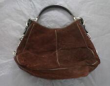Sergio Rossi brown suede bag. Classic design. Good exterior condition.