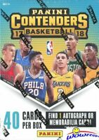 2017/18 Panini Contenders Basketball EXCLUSIVE Sealed Blaster Box-AUTO/MEM