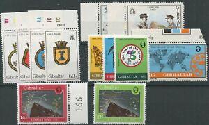 Gibraltar SG457-486 1982 Commemorative issues U/M